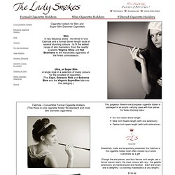 Slim Cigarette Holders - The Lady Smokes