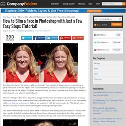 How to Slim a Face in Photoshop with a Few Easy Steps