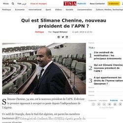 Qui est Slimane Chenine, nouveau président de l'APN ?