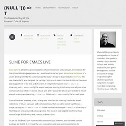 SLIME for Emacs Live
