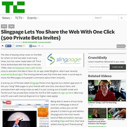 Slingpage Lets You Share the Web With One Click (500 Private Beta Invites)