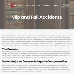 Slip and Fall Accidents - Pawnee A. Davis Law Firm, LLC.