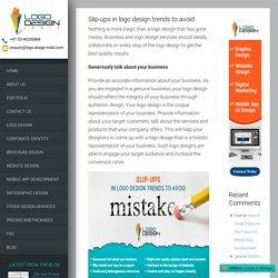 Slip-ups in logo design trends to avoid