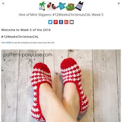 Hint of Mint Slippers: #12WeeksChristmasCAL Week 5