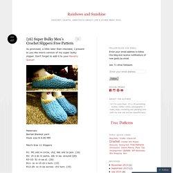 {16} Super Bulky Men's Crochet Slippers Free Pattern