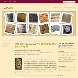 SLISbits | Tablets, phones & apps in libraries & education