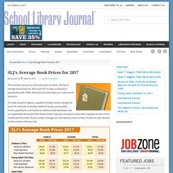 SLJ's Average Book Prices for 2017