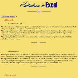 Initiation à Excel