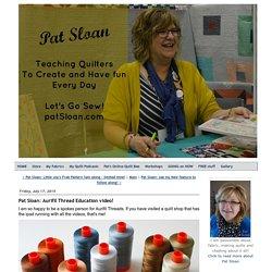 Aurifil Thread Education video!