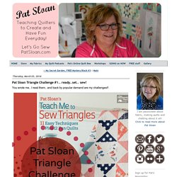 Pat Sloan Triangle Challenge #1.. ready..set.. sew!