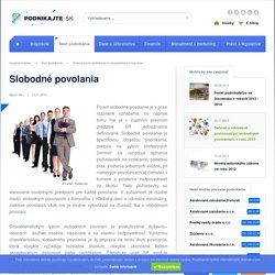 Slobodné povolania - podnikajte.sk