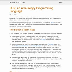 Rust, an Anti-Sloppy Programming Language