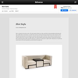 Slot Sofa on the Behance Network