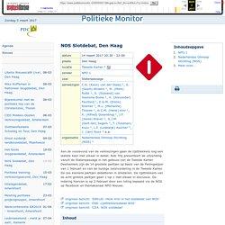 NOS Slotdebat, Den Haag - Politieke monitor