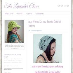Lacy Waves Sloucy Beanie Crochet Pattern