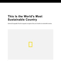 Slovenia Is the World's Most Sustainable Country