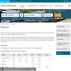 Slovenske železnice - Motorail - Slovenske železnice