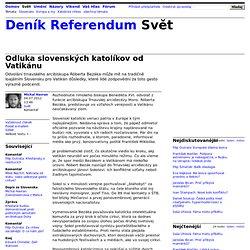 Michal Havran: Odluka slovenských katolíkov od Vatikánu