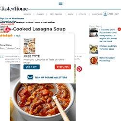 Slow-Cooked Lasagna Soup Recipe