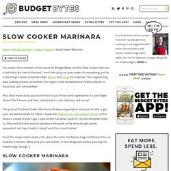 Slow Cooker Marinara