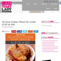 20 Slow Cooker Meals for under $150.00 at Aldi