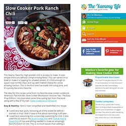 Slow Cooker Pork Ranch Chili