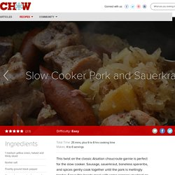 Slow Cooker Pork and Sauerkraut Recipe - CHOW.com