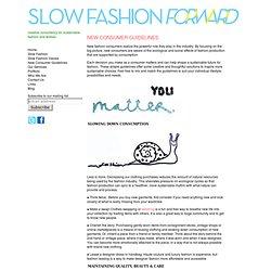 slow fashion forward