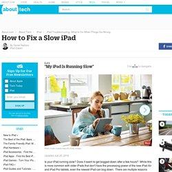 How to Fix a Slow iPad