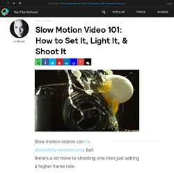 Slow Motion Video 101: How to Set It, Light It, & Shoot It