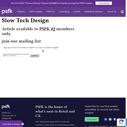 Slow Tech Design