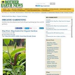 Slug Wars: Slug Control for Organic Gardens