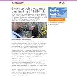 Småkryp och bloggande blev ingång till källkritik
