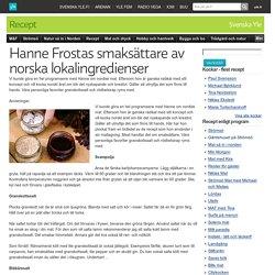 Hanne Frostas smaksättare av norska lokalingredienser
