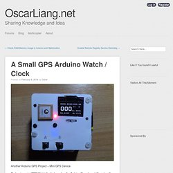 A Small GPS Arduino Watch / Clock
