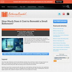 Small Bathroom Remodel Cost Guide