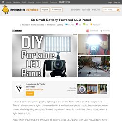 5$ Small Battery Powered LED Panel: 37 Steps