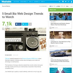 5 Small Biz Web Design Trends to Watch