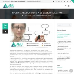 Your Small Business Web Design Solution