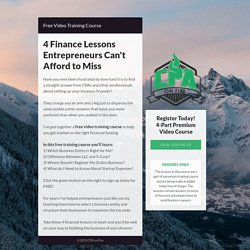 Free Small Business Finance Course