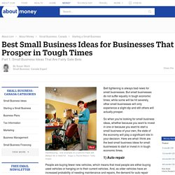 Best Small Business Ideas for Tough Times