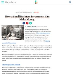 How a Small Business Investment Can Make Money