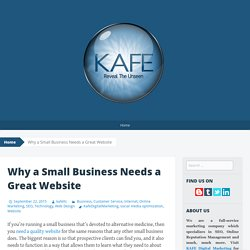 Why a Small Business Needs a Great Website