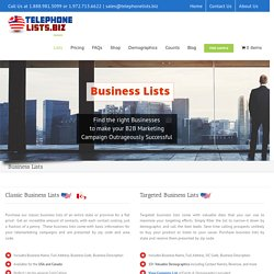 Buy Small Business List, Business Leads, New Business List - TelephoneLists