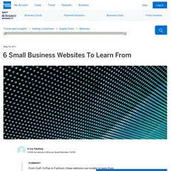 6 Small Business Websites To Learn From