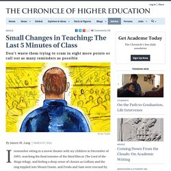 Small Changes in Teaching: The Last 5 Minutes of Class