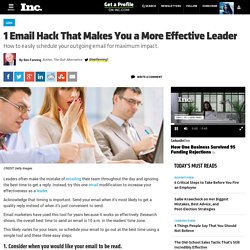 1 Small Email Tweak That Makes You a More Effective Leader