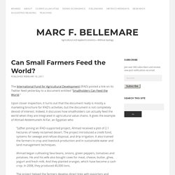 Can Small Farmers Feed the World? « Marc F. Bellemare