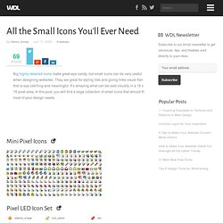 All the Small Icons You'll Ever Need | Freebies