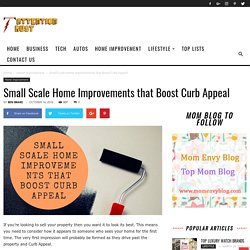 Small Scale Home Improvements that Boost Curb Appeal